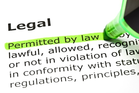 Permitted by law highlighted in green, under the heading Legal photo