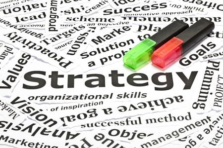 objetivo: Relacionados con el concepto de Estrategia con muchas otras palabras y dos textmarkers