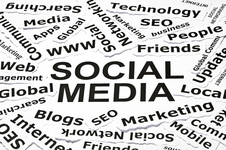 'Social media' concept with other related words Stock Photo - 9807519
