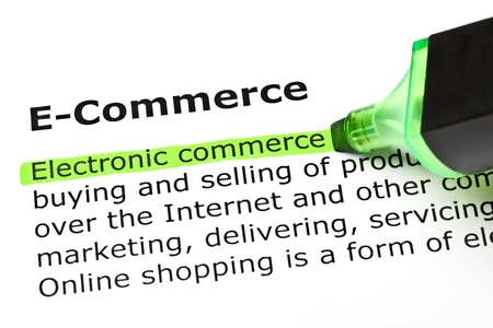 Electronic commerce highlighted in green, under the heading E-Commerce  photo