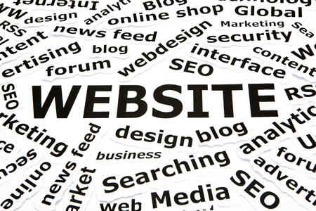 Website concept with other related words Stock Photo - 11409110