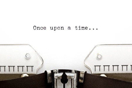 typewriter: Érase una vez ... escrito en una vieja máquina de escribir