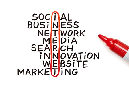 The word Internet highlighted with red marker in a handwritten chart Stock Photo - 12829270