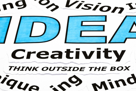 Creativity concept with other related words printed on paper Stock Photo - 15350742