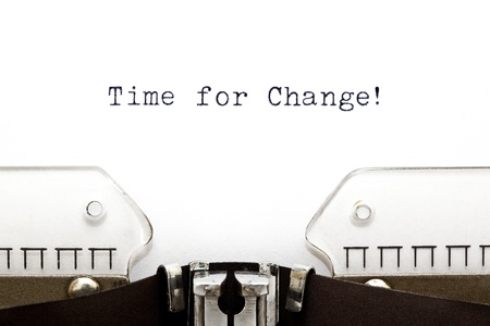 activism: Time for Change printed on an old typewriter