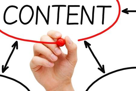 Content Is The King Message On Blue Background Lizenzfreie Fotos ...