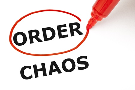 the order: Choosing Order instead of Chaos  Order selected with red marker