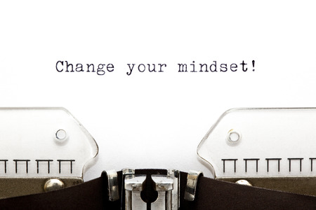 Change Your Mindset printed on an old typewriter photo