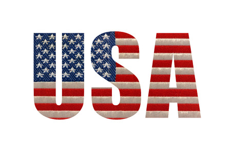 cut through: USA cut through a white foreground layer to reveal the american flag underneath.