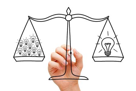 Teamwork Scale And Light Bulbs Concept