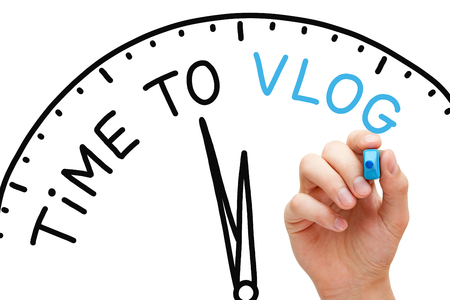 post: Time To Vlog Concept Stock Photo