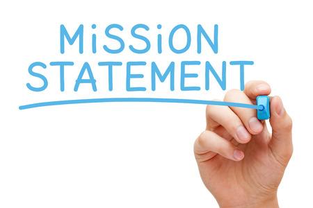 Mission Statement Handwritten With Blue Marker