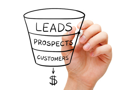 Sales Funnel Business Concept 스톡 콘텐츠