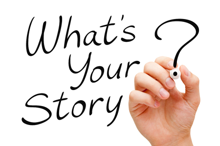 narration: What Is Your Story Handwritten On White