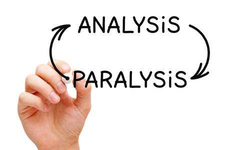 business decisions: Analysis Paralysis Arrows Concept Stock Photo