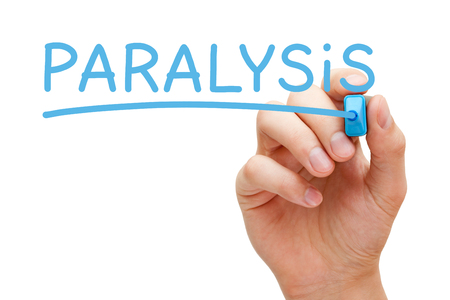 diagnosed: Paralysis Handwritten With Blue Marker
