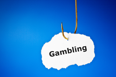 Hooked On Gambling Concept Stock Photo
