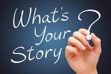 narration: What Is Your Story Handwritten With White Marker