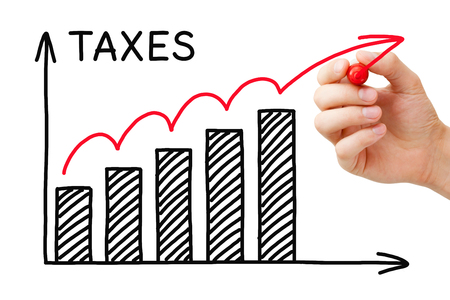 rate: Rising Taxes Graph Concept Stock Photo