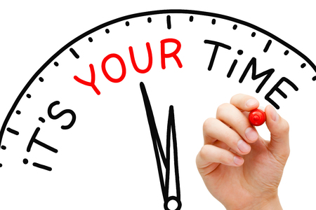 It Is Your Time Clock Concept Stock Photo