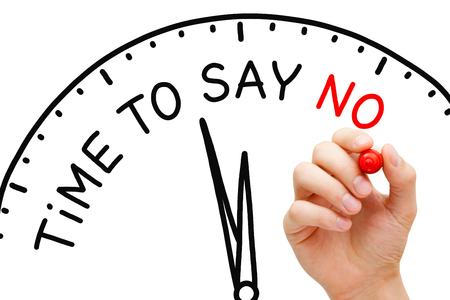 banned: Time To Say No Clock Concept Stock Photo