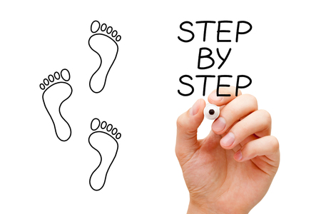 Step By Step Concept Stock Photo