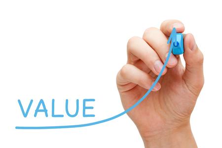 Concepto de gráfico de valor creciente