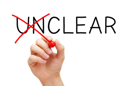 Clear Not Unclear Concept Stockfoto - 102957744