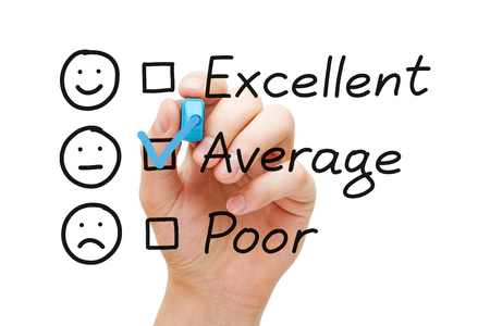 Average Customer Service Evaluation Form 스톡 콘텐츠