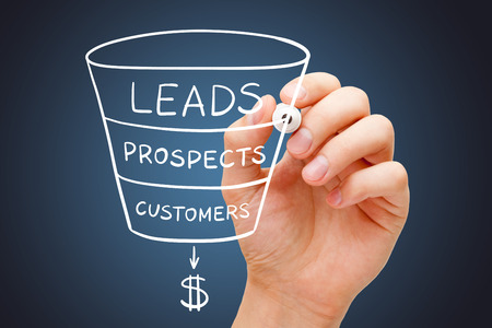Sales Funnel Marketing Concept Stockfoto