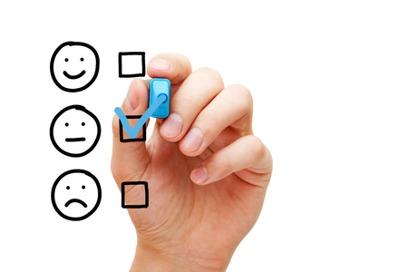 Blank Average Customer Survey Evaluation Form Stock Photo