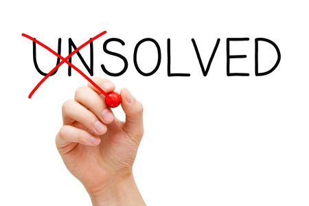 Solved Not Unsolved Solution Concept Banque d'images
