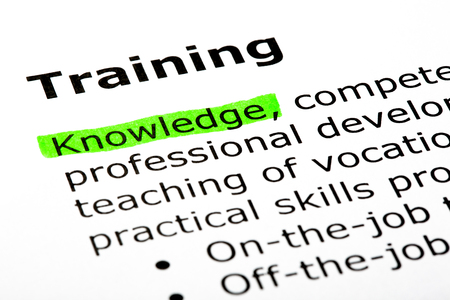 Dictionary Definition Of The Word Training Stock Photo