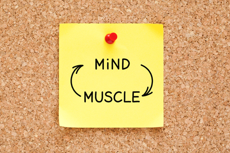 Mind Muscle Connection Concept On Sticky Note