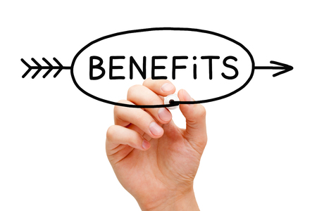 Benefits Arrow Concept