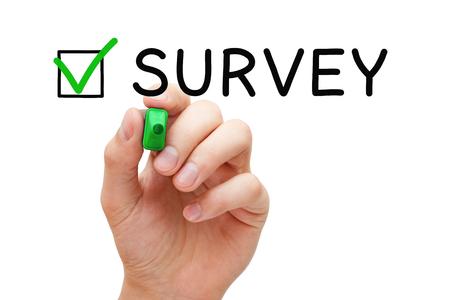 Survey Green Check Mark Concept