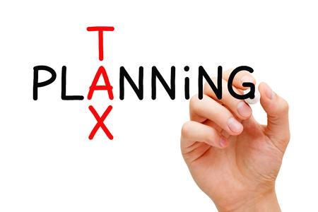 Tax Planning Crossword Concept
