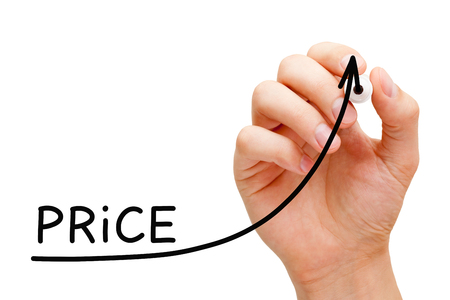 Increasing Price Business Graph Concept 写真素材