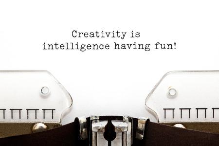 Creativity Is Intelligence Having Fun Inspirational Quote 写真素材
