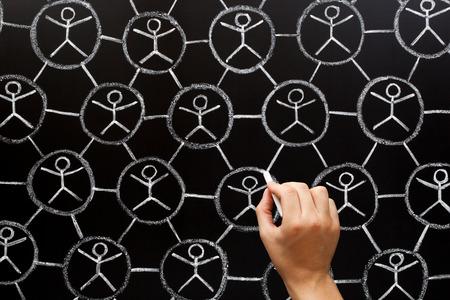 Social Network Community Teamwork Concept