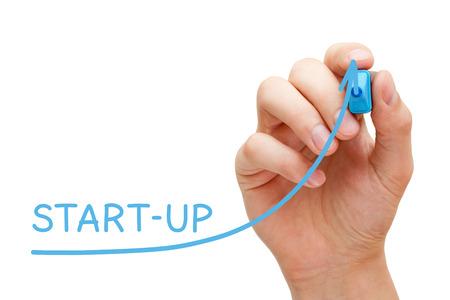 Start-up Business Graph Concept