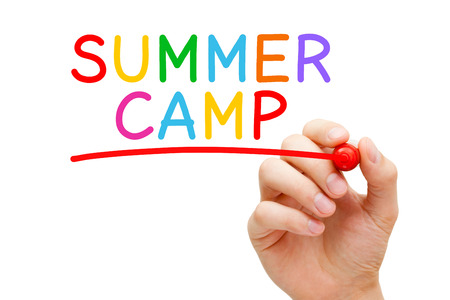 Summer Camp Handwritten Colorful Concept