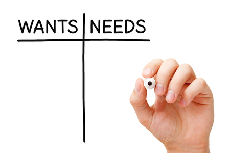 Blank Wants And Needs List Concept