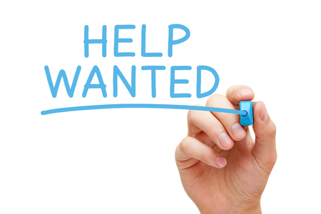 Help Wanted Announcement Employment Concept