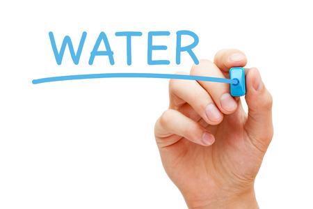 Word Water Handwritten With Blue Marker 写真素材