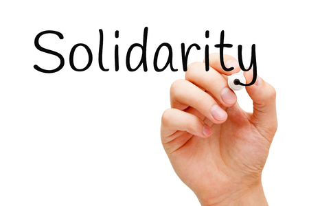 Solidarity Handwritten With Black Marker