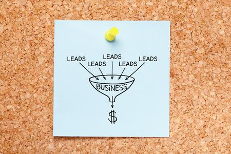 Sales Funnel Lead Generation Business Concept