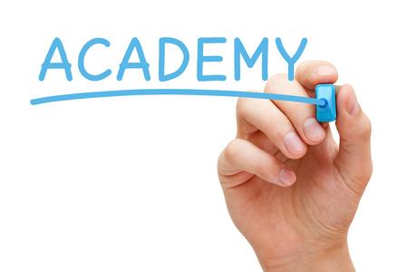 Word Academy Handwritten With Blue Marker