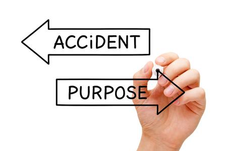 Purpose Or Accident Arrows Concept