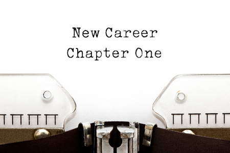 New Career Chapter One Typewriter Concept